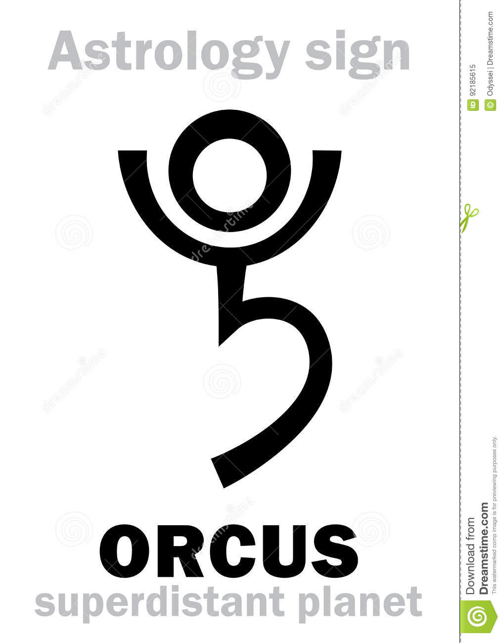 Astrology Planet Orcus Stock Vector Illustration Of Horoscope
