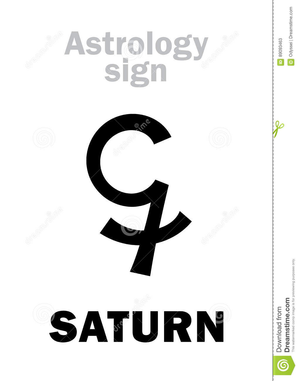 Saturn Symbol Astrology