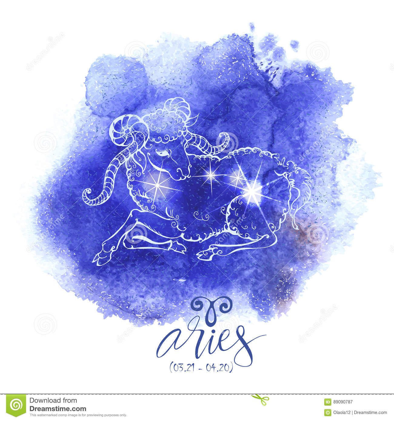 Astrology sign Aries stock vector  Illustration of dates