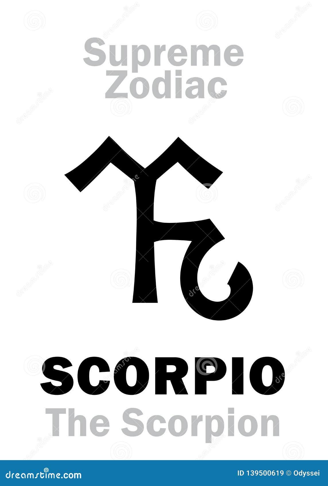 Astrology: Supreme Zodiac: SCORPIO (The Scorpion) Stock
