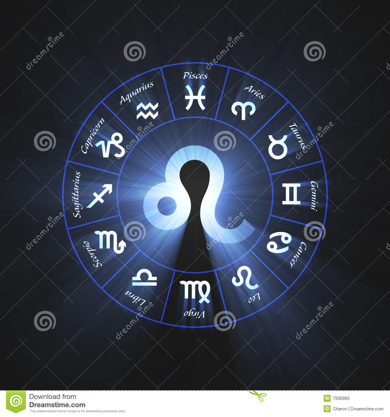 astrology symbol leo light flare stock photo image 7936960