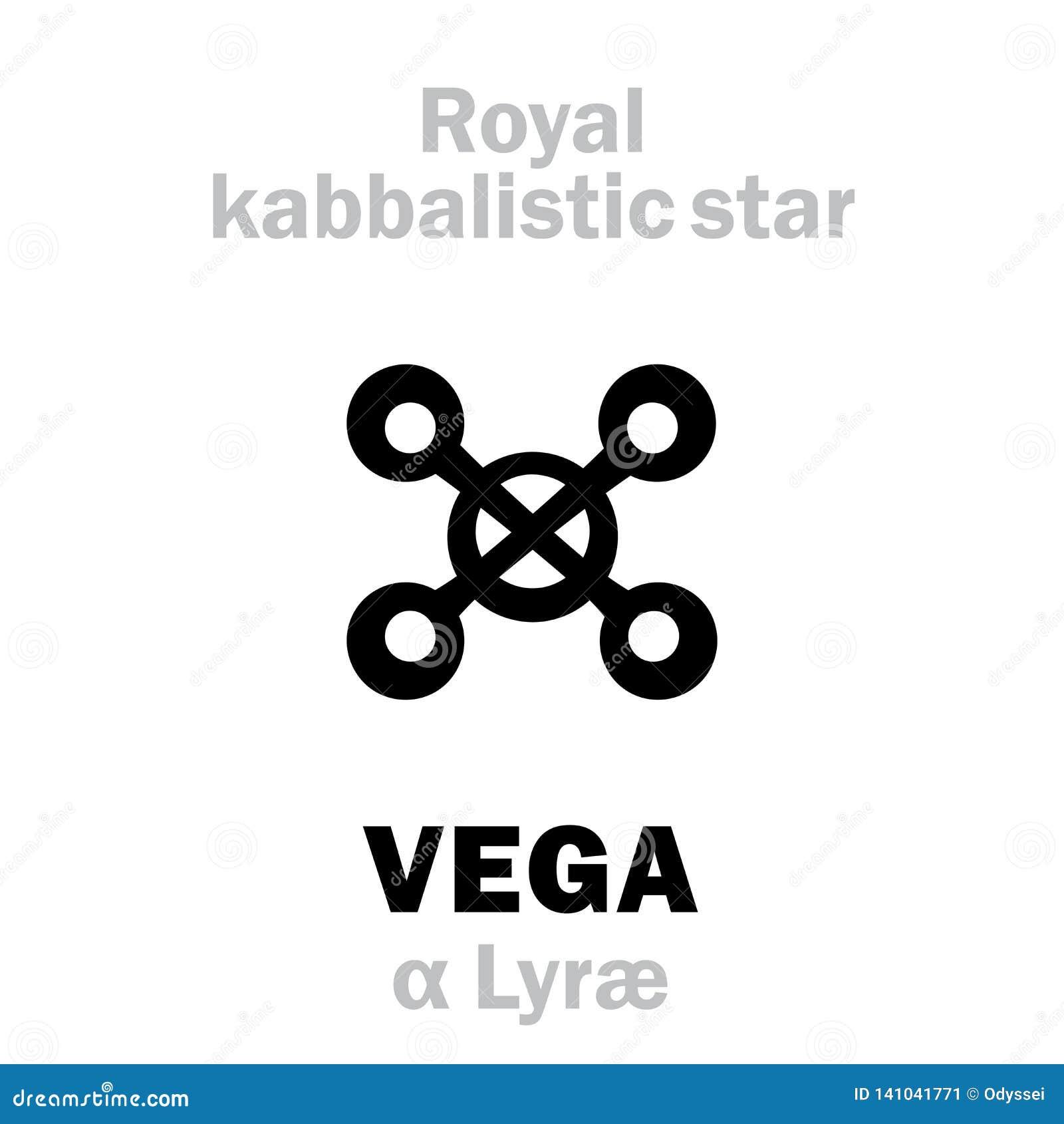 Astrology: VEGA (The Royal Behenian Kabbalistic Star) Stock Vector