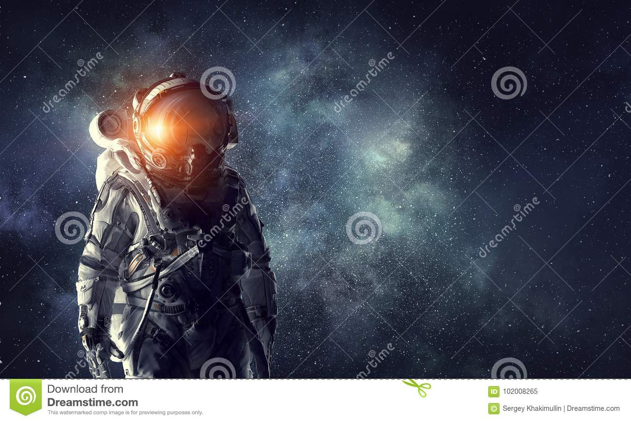 an astronaut in space will observe the sky as - photo #8