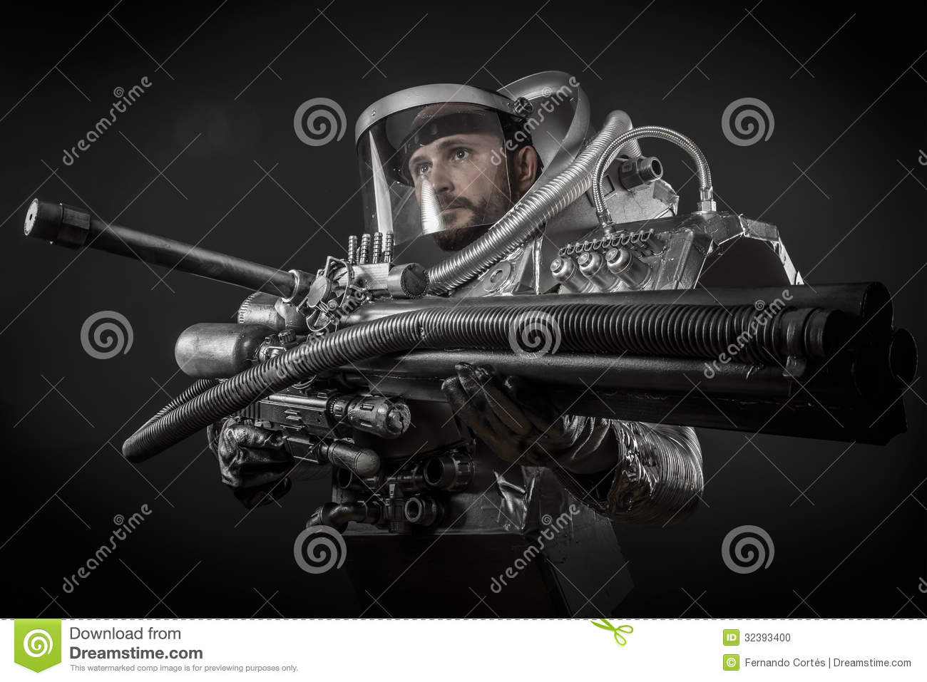 astronaut with weapon - photo #4