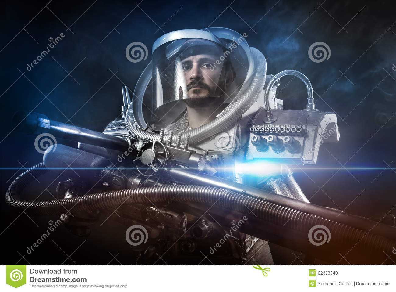 astronaut with weapon - photo #2