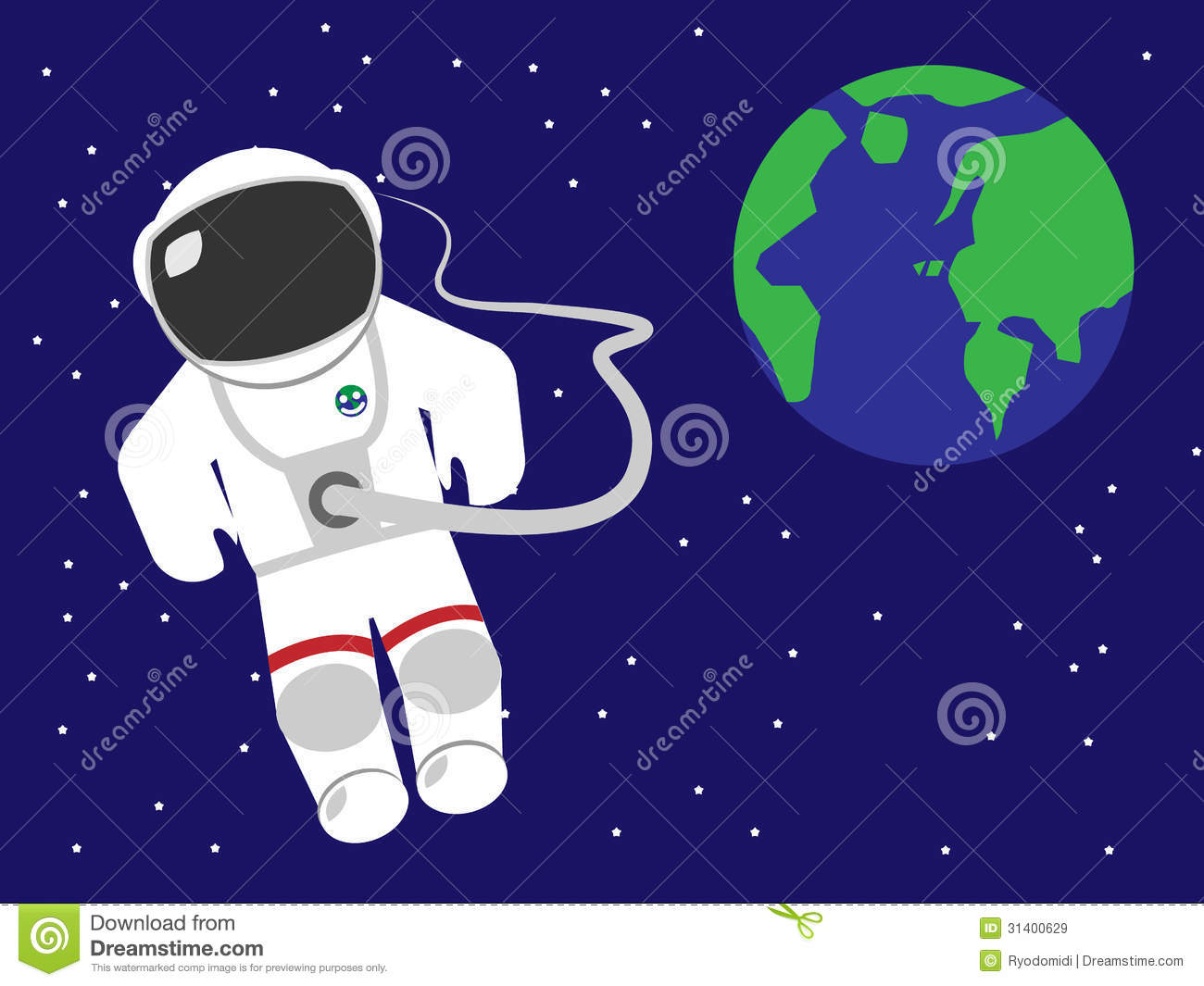 astronaut floating in space clipart - photo #2