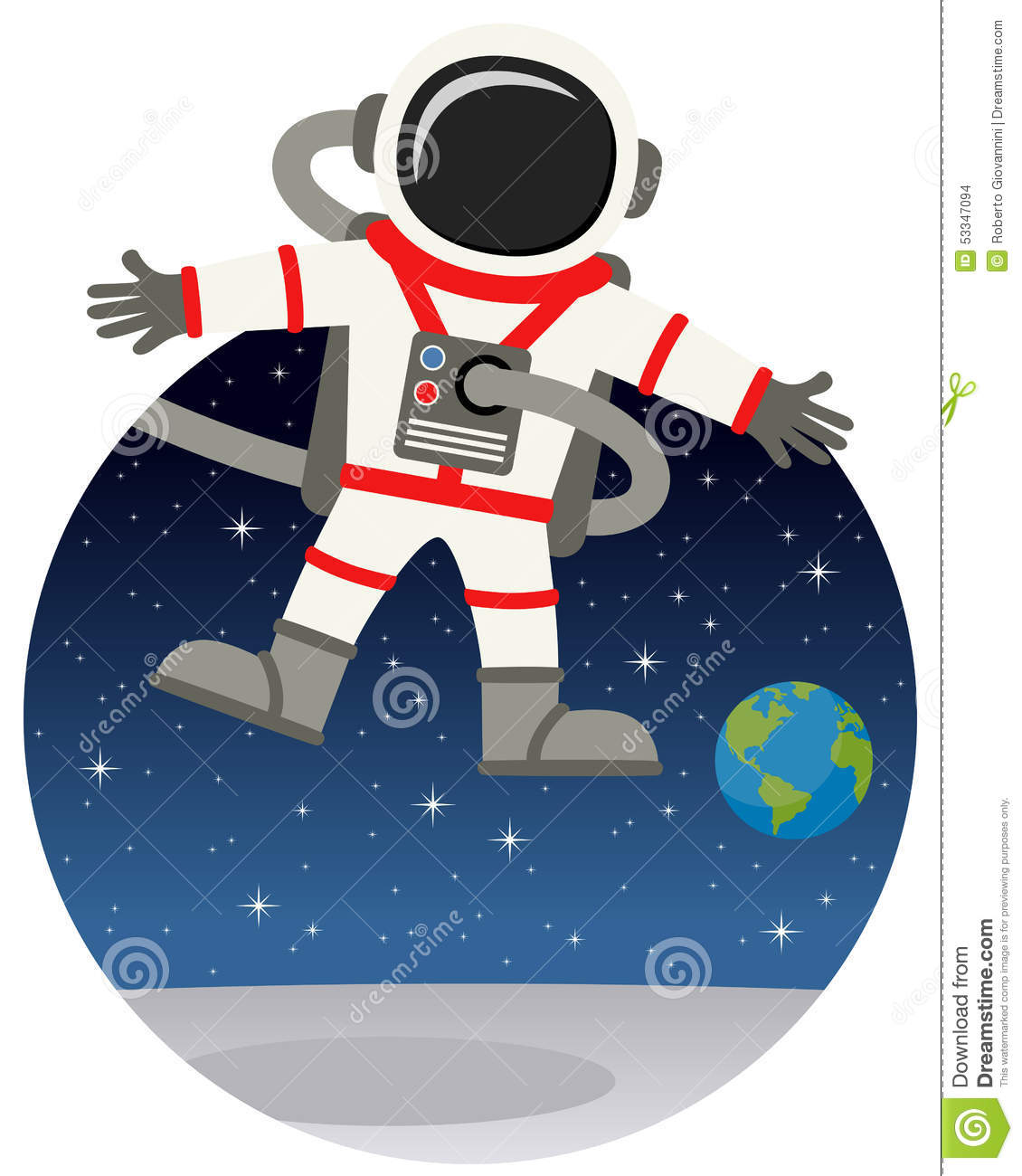 astronaut floating in space cartoon - photo #8