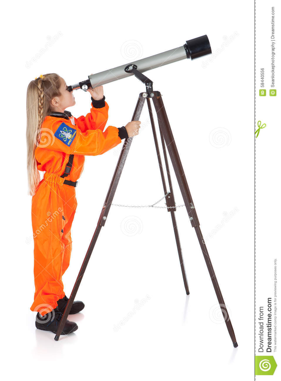 Astronaut: Future Astronomer Looking Through Telescope ...