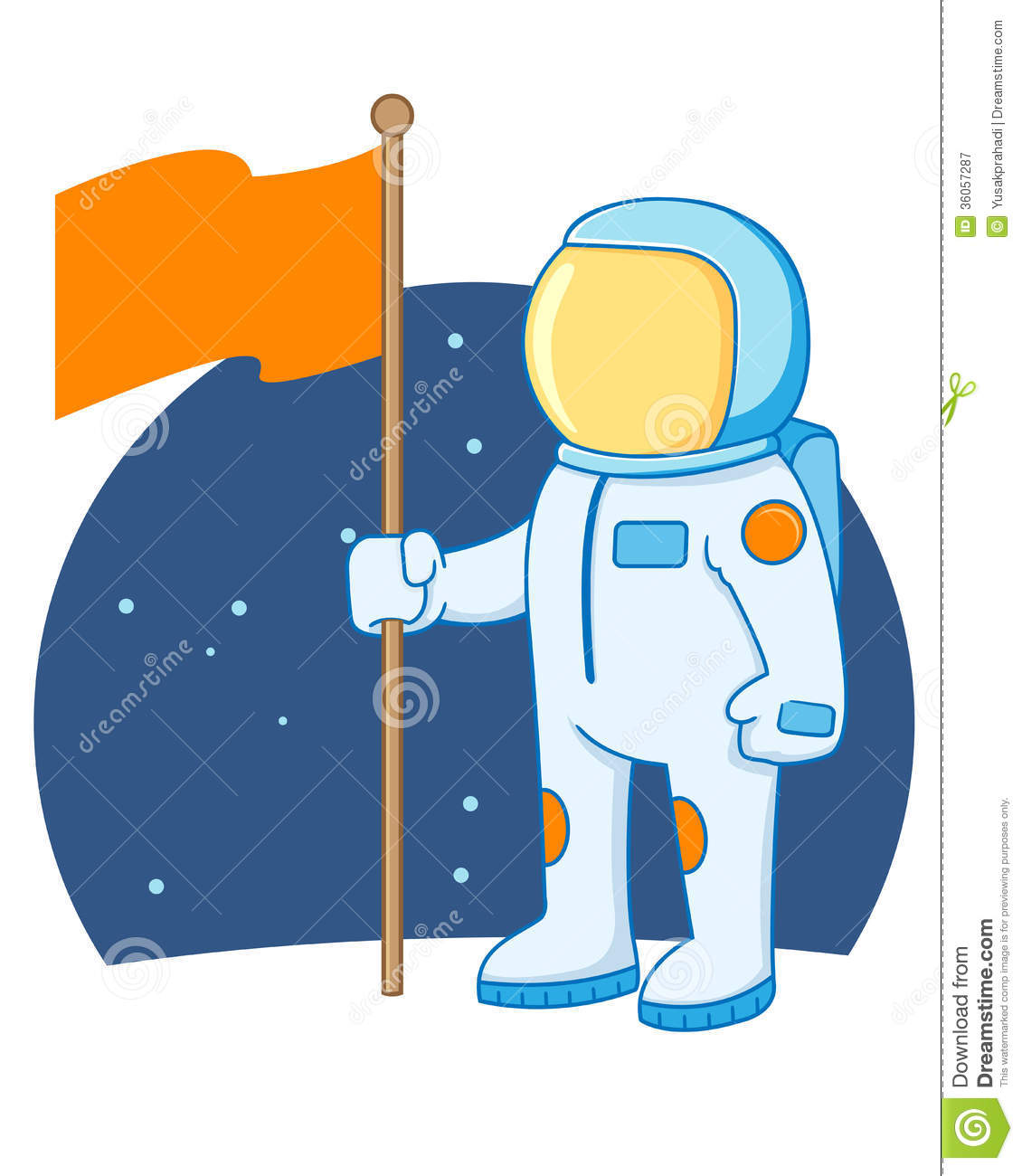 Astronaut Holding Flag Royalty Free Stock Photography - Image ...