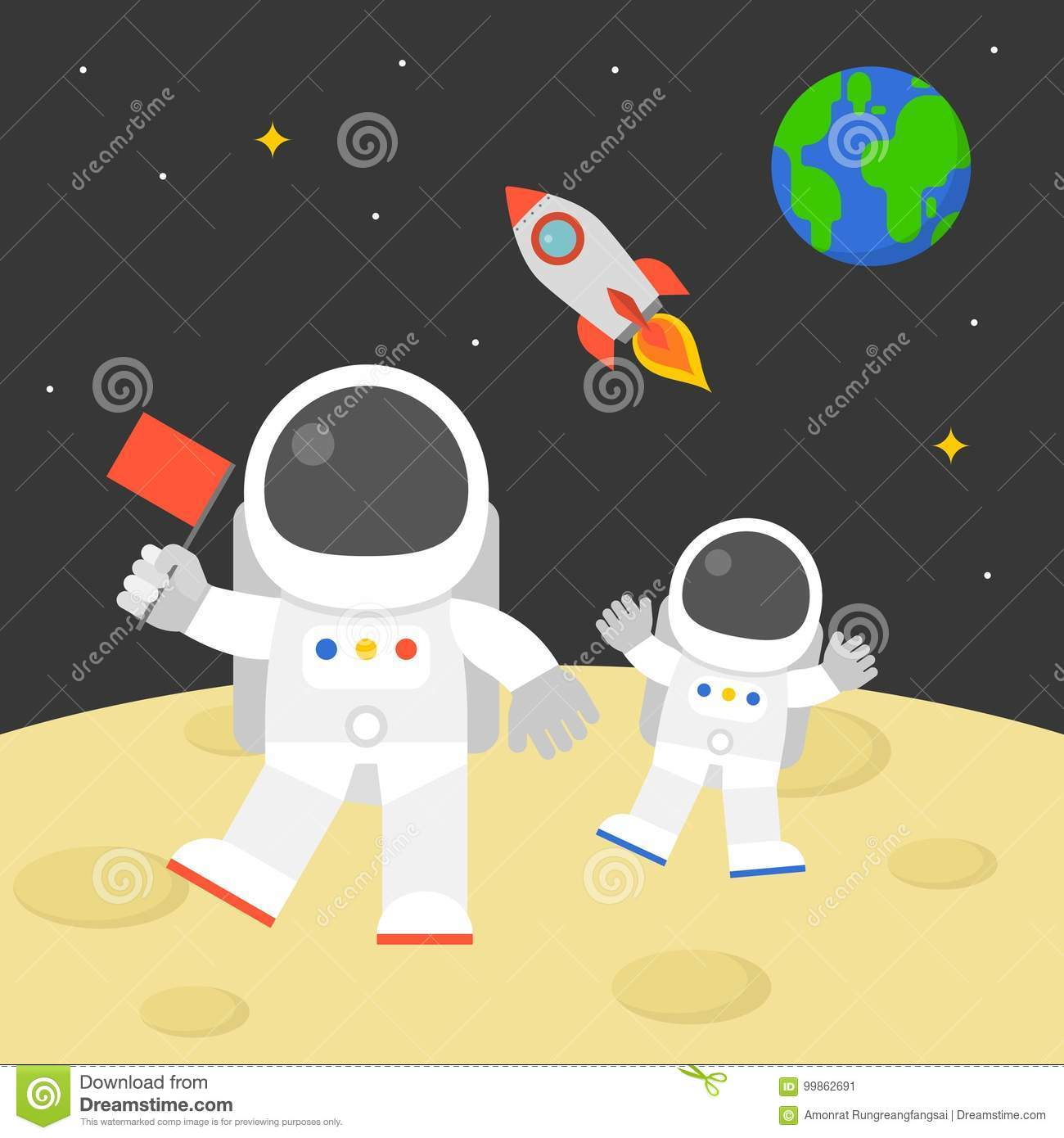 walking on the moon the dream