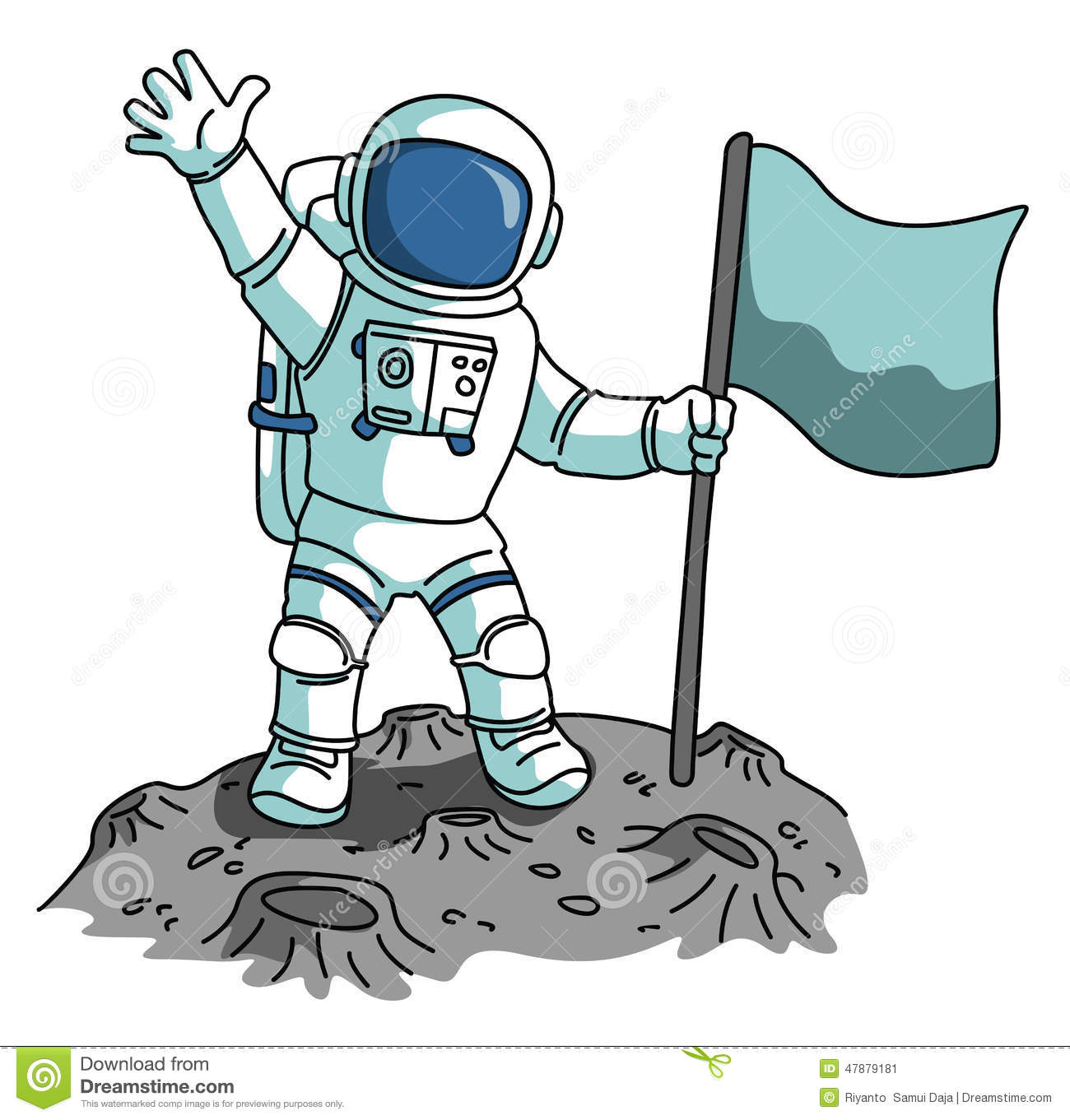 astronaut stock vector illustration of space  moon astronaut clipart free Astronaut Illustration