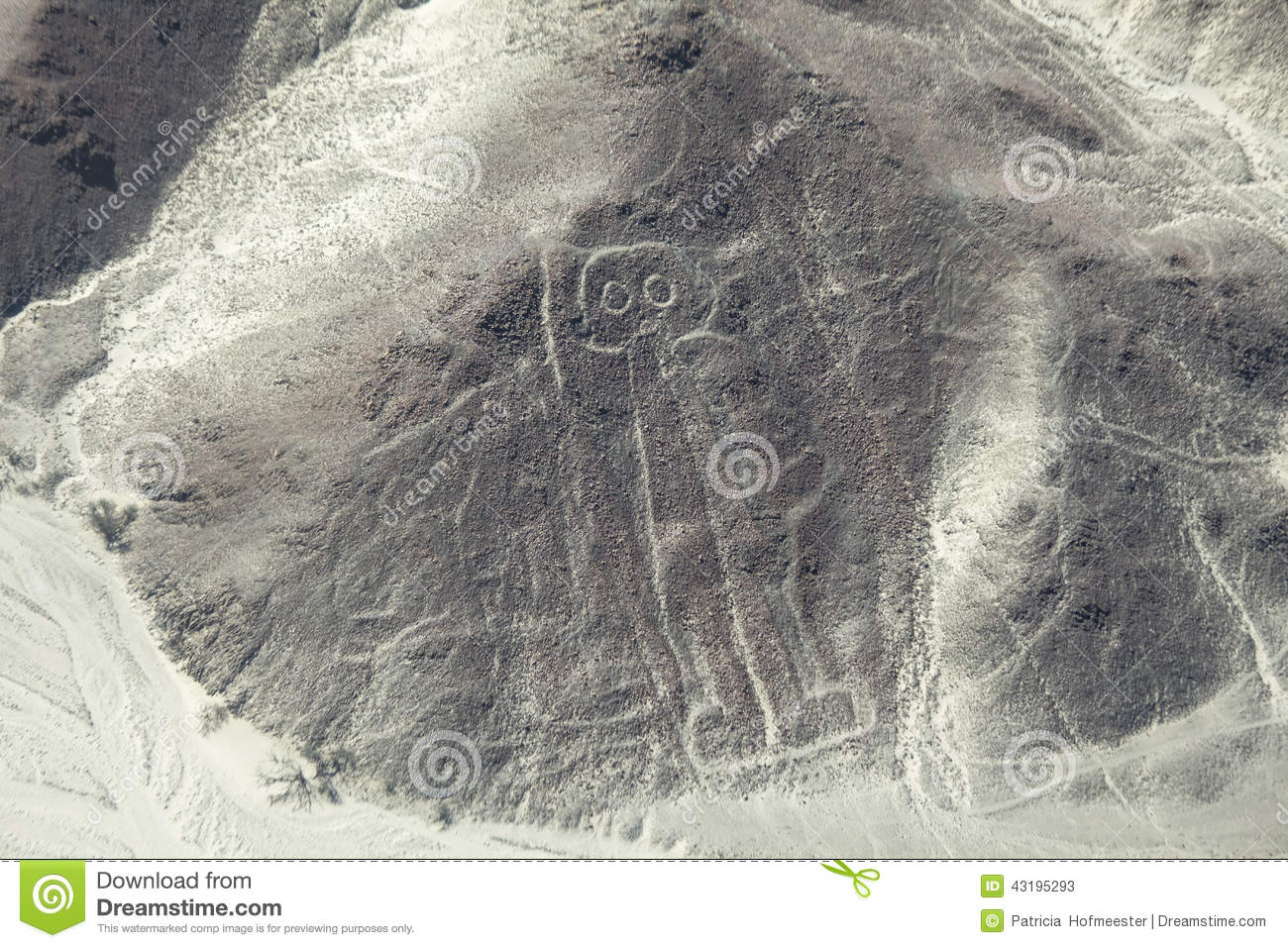 Astronaut Image At The Nazca Lines In Peru Stock Photo ...