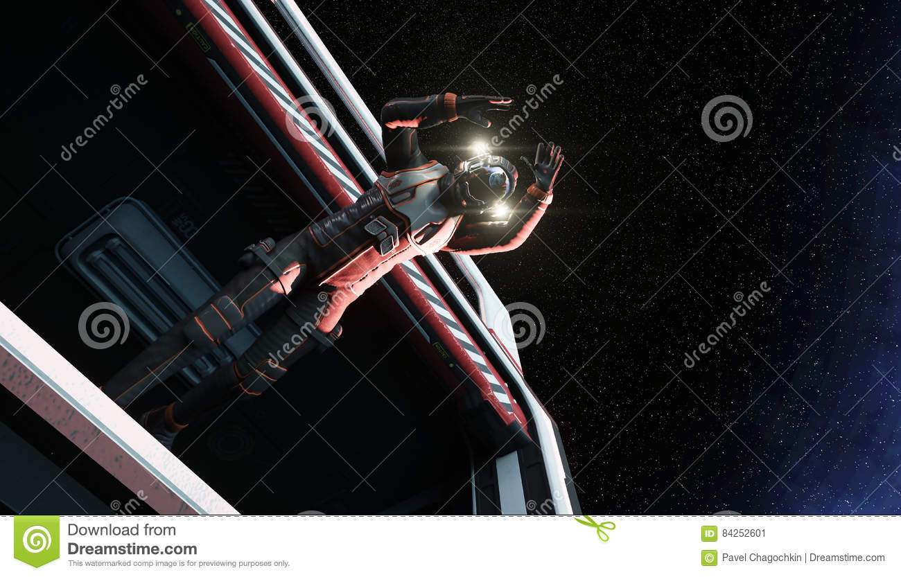 jumping astronaut in space - photo #29