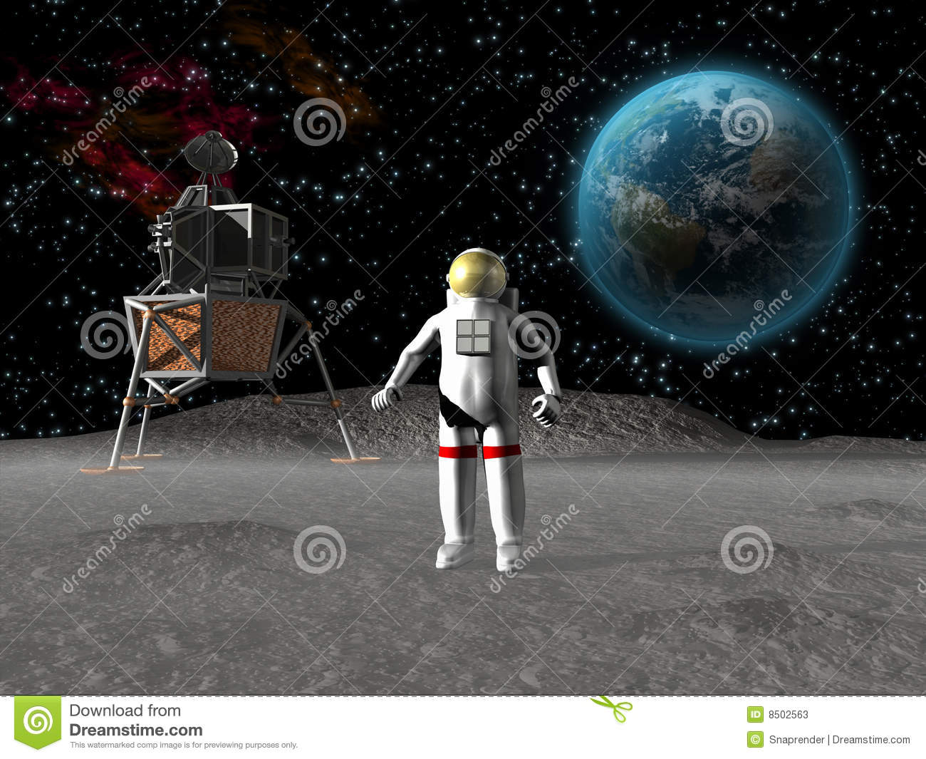 astronaut on moon earth background - photo #13