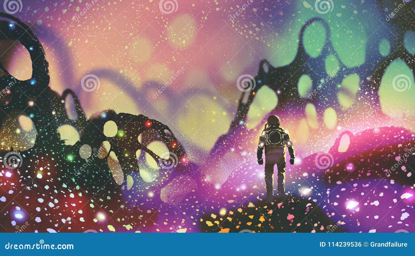Astronaut op vreemde planeet