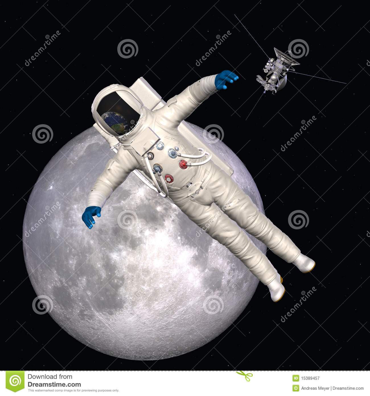 Astronaut in outer space royalty free stock photography for 3d map of outer space