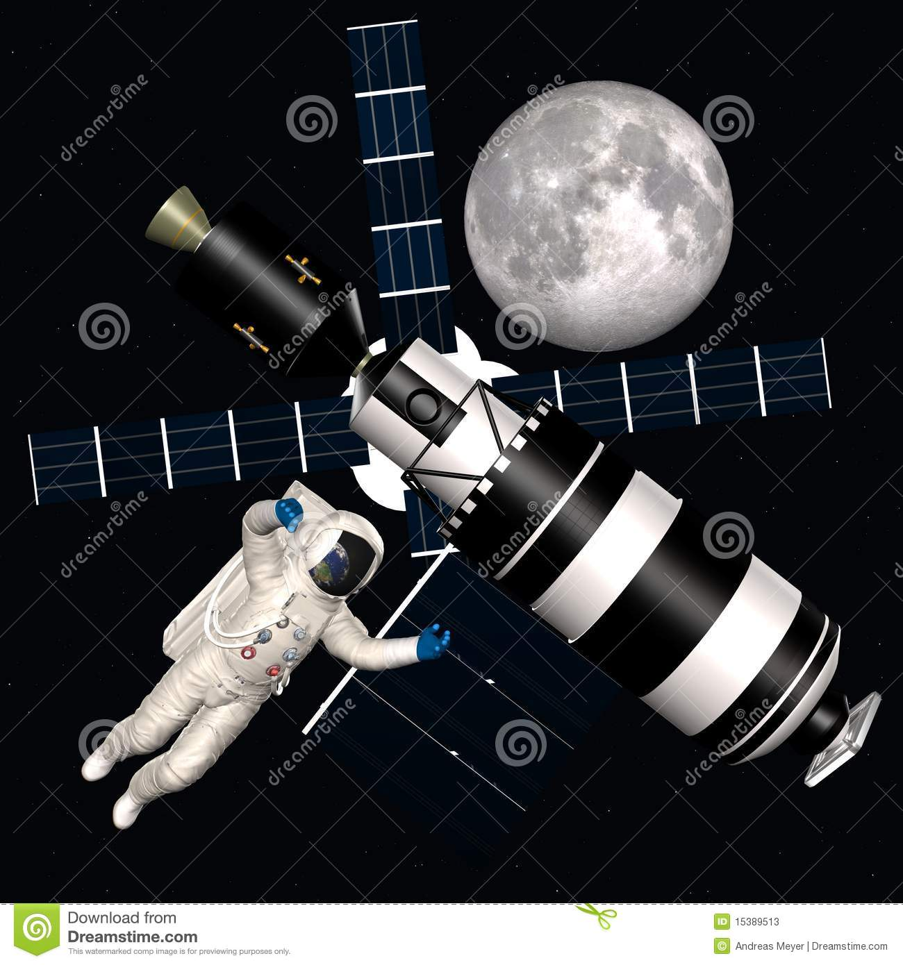Astronaut in outer space stock photos image 15389513 for 3d map of outer space
