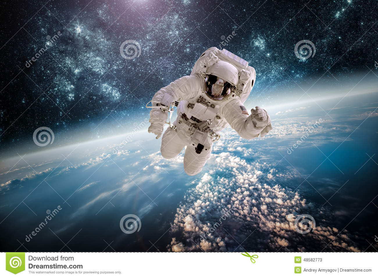 Astronaut In Outer Space Stock Photo - Image: 48582773