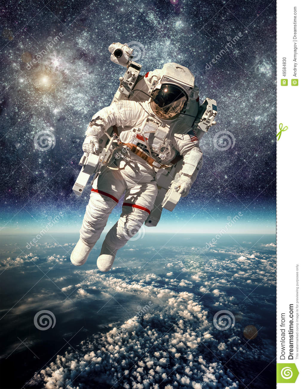 Astronaut In Outer Space Stock Photo - Image: 49584830
