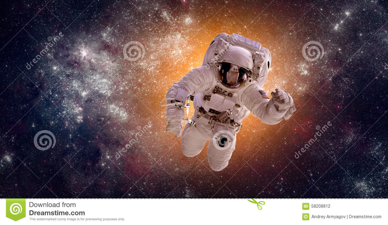 Astronaut in outer space stock photo image 58208812 for Outer space elements