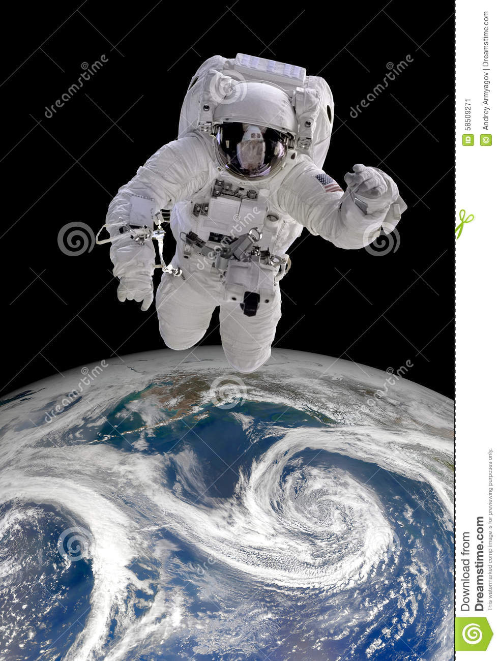 Astronaut in outer space stock photo image 58509271 for Outer space elements