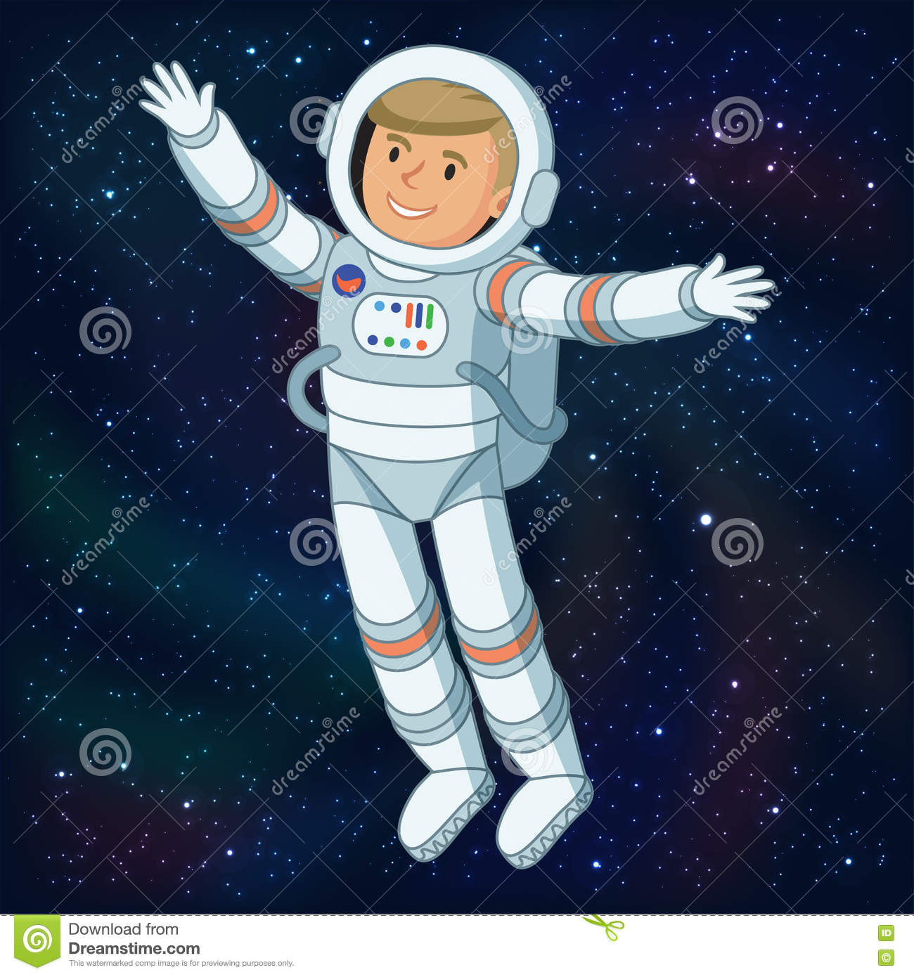 Astronaut in outer space astronaut floating in space for Outer space scene