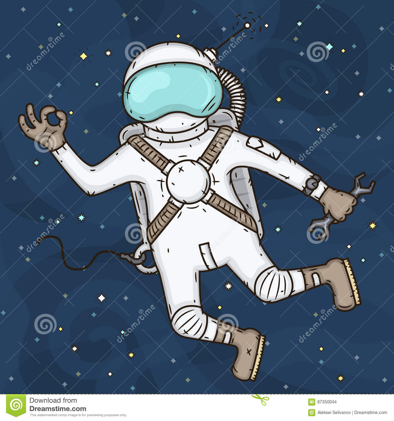 cartoon astronaut in outer space - photo #9