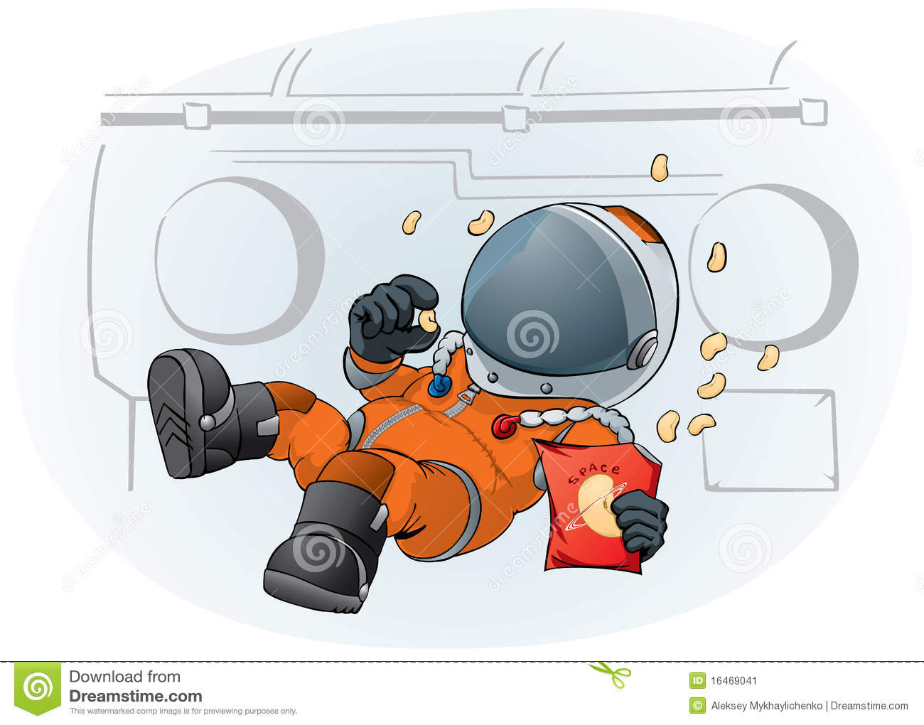 Download Astronaut In The Space Ship Stock Vector - Illustration of science, rocket: 16469041