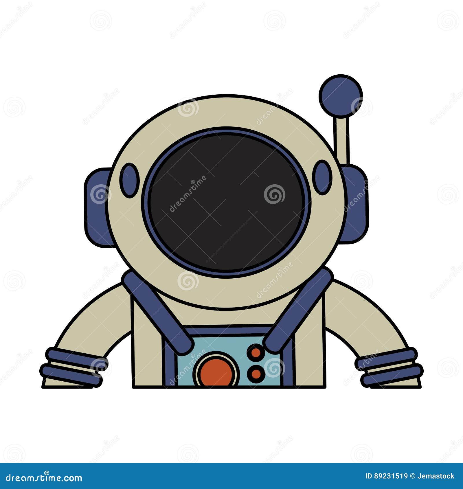 Astronaut Suit Helmet Space Stock Illustration