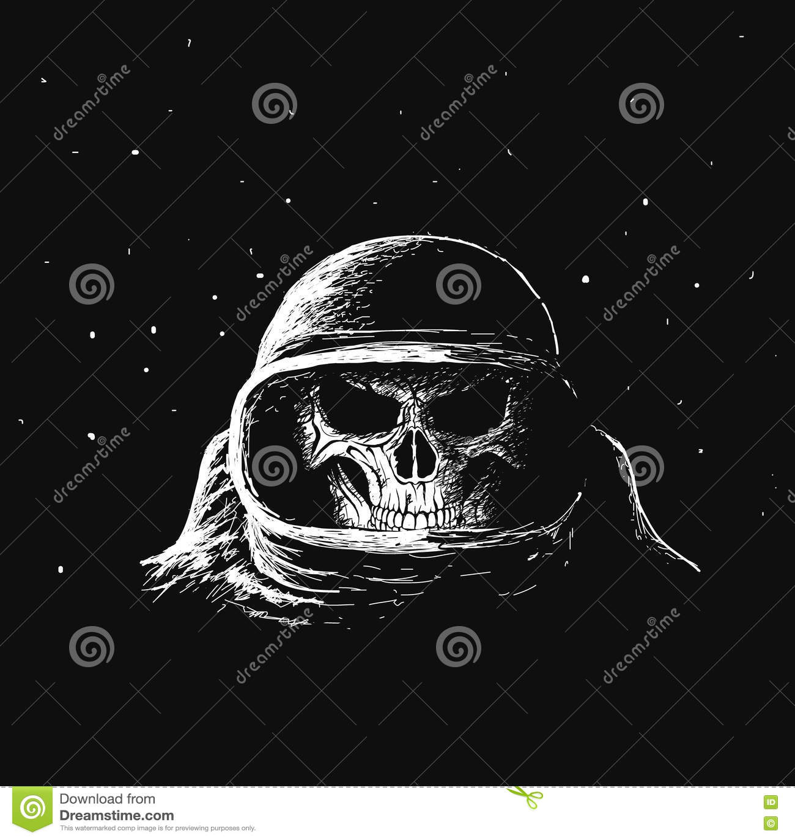 Astronauta del cranio nello spazio cosmico