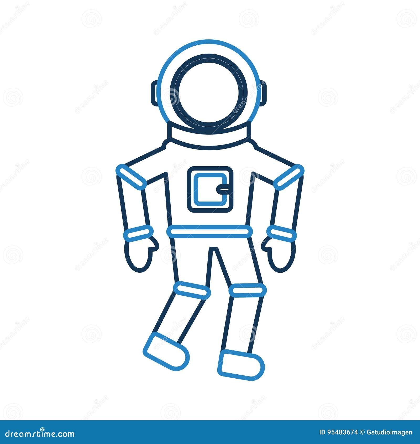 Astronauta komicznego charakteru ikona