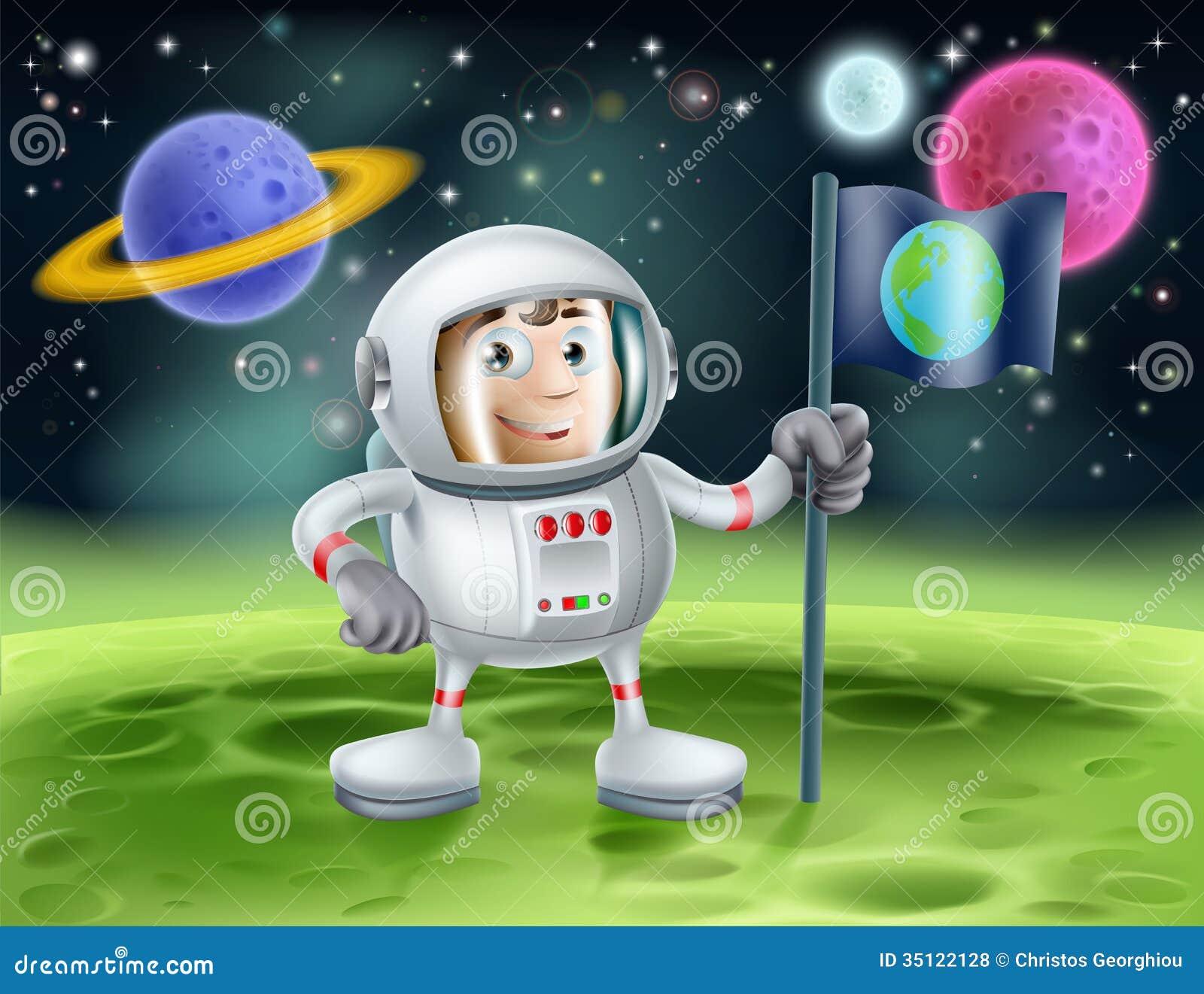 Astronauta kosmosu kreskówka