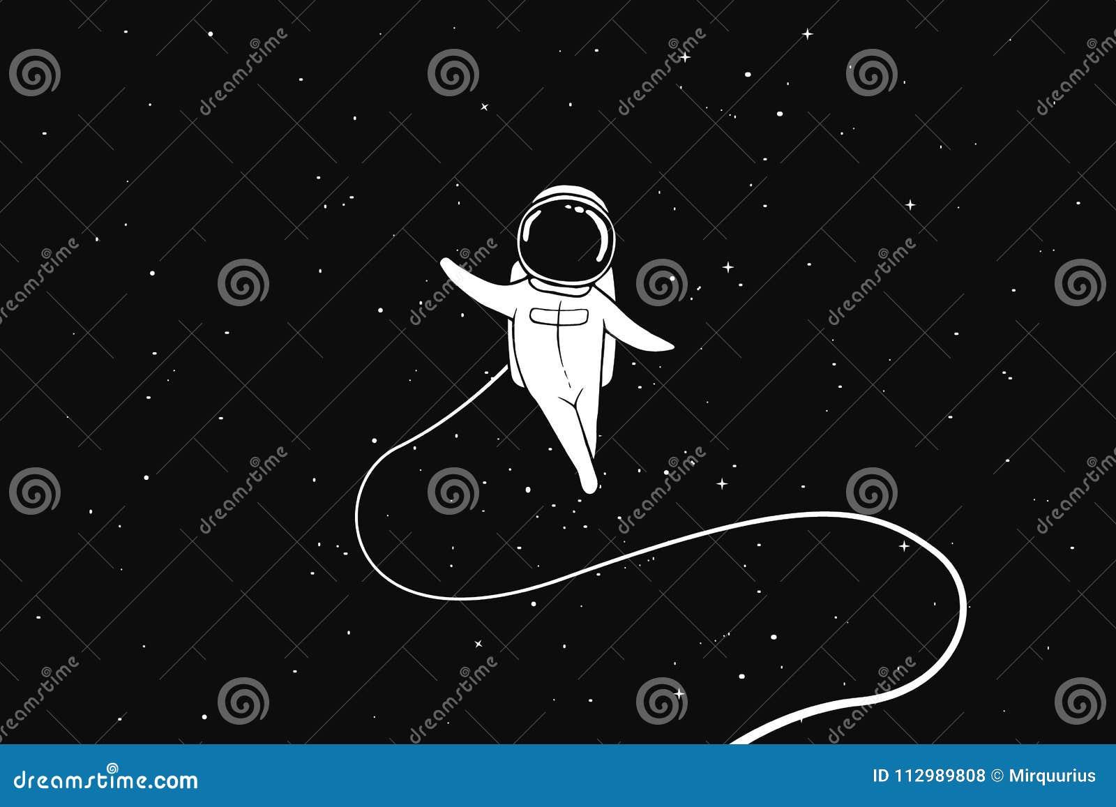 Astronauta lata samotnie w kosmosie