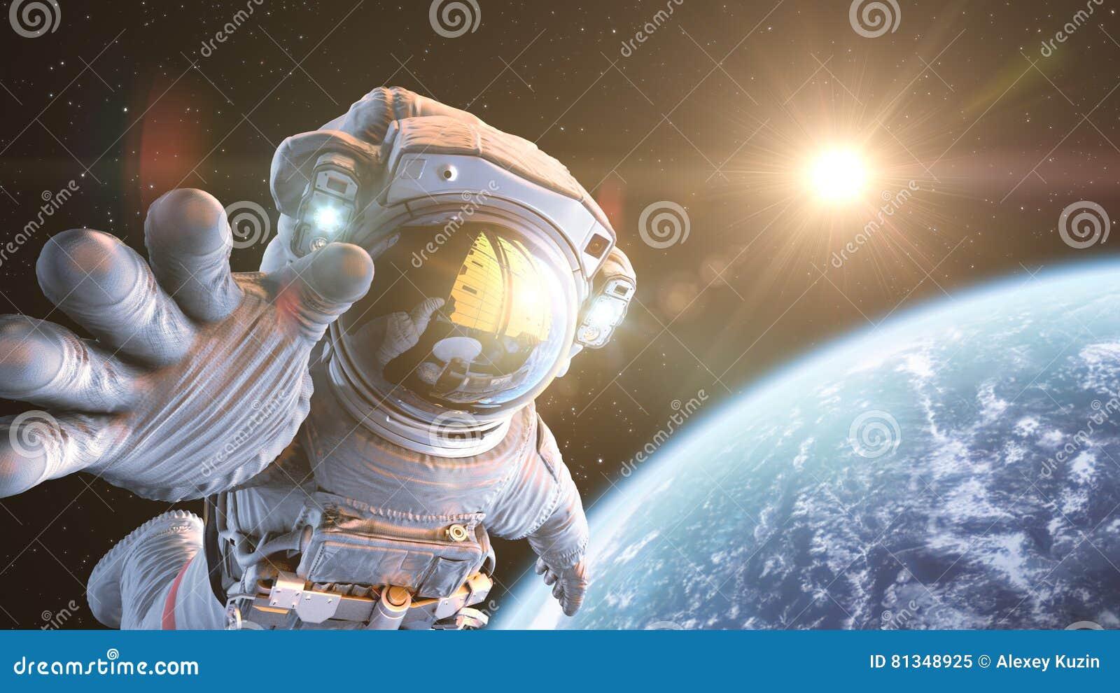 Astronaute dans l espace extra-atmosphérique
