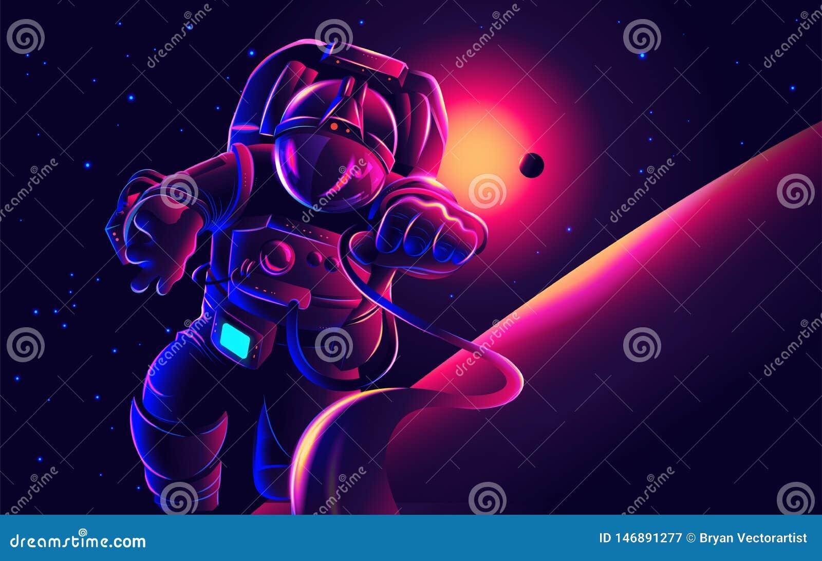 Astronaute dans l illustration de l espace