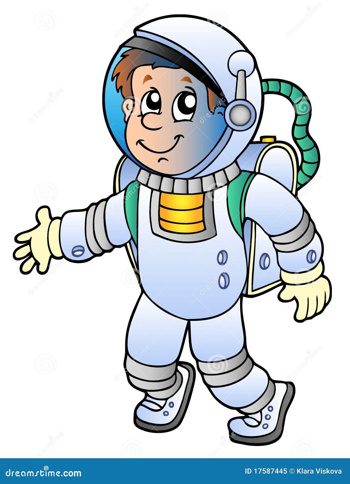 Astronaute de dessin anim photo libre de droits image 17587445 - Dessin d astronaute ...