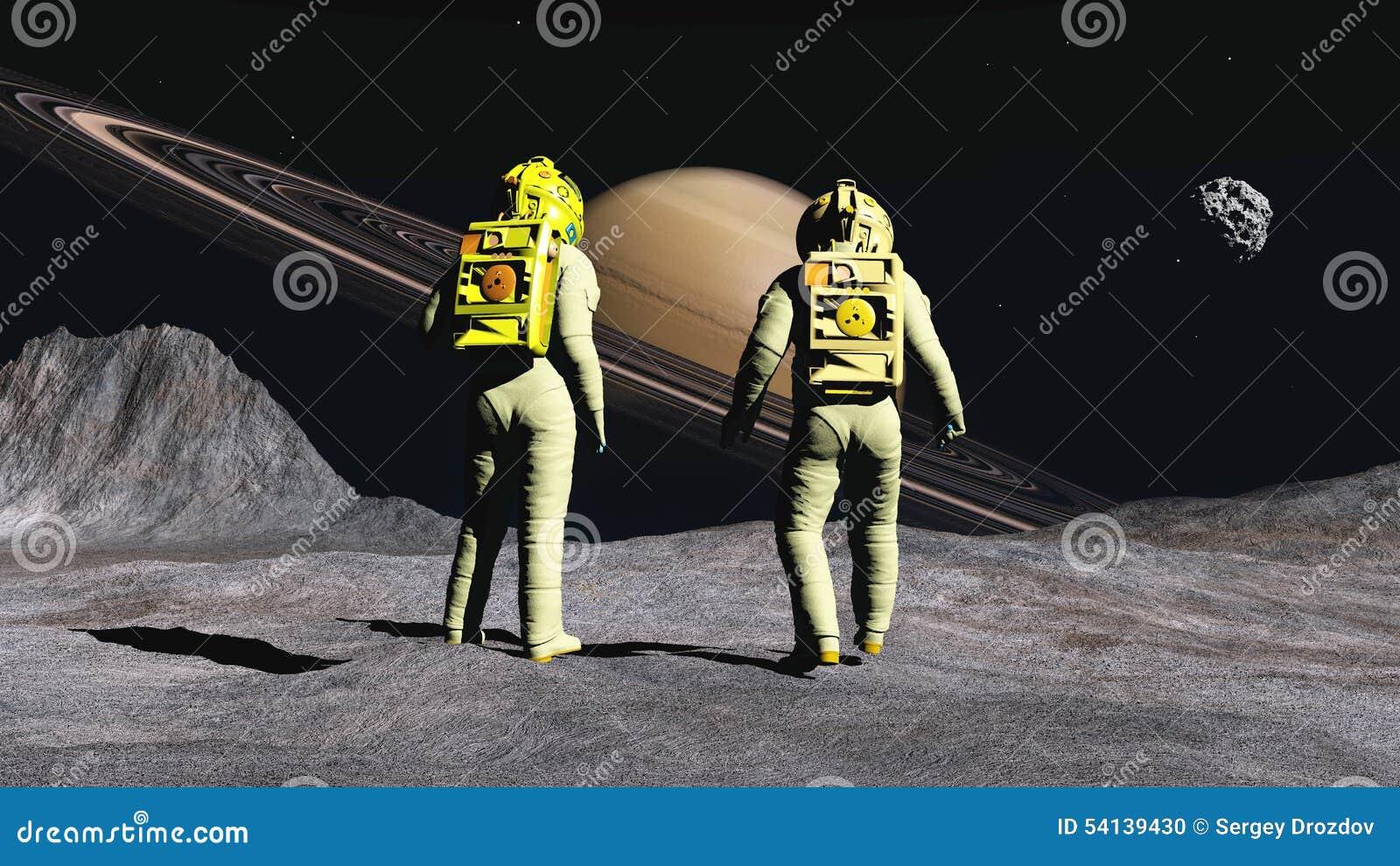 astronauts on saturn - photo #1
