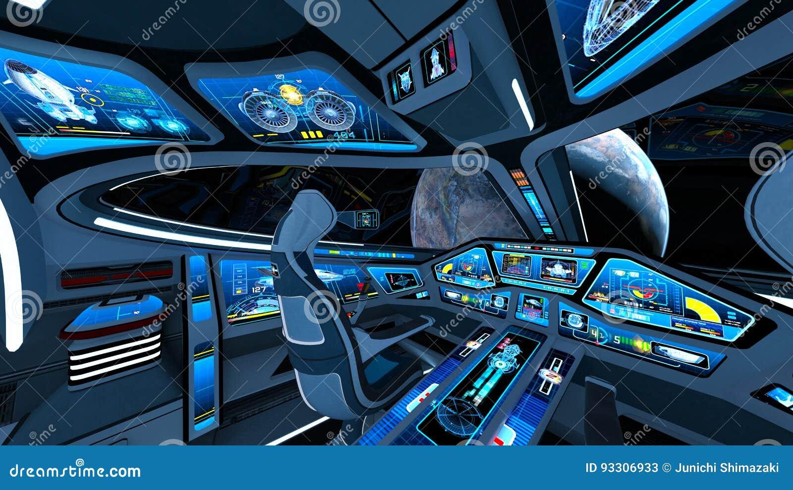 Astronautycznego statku kokpit