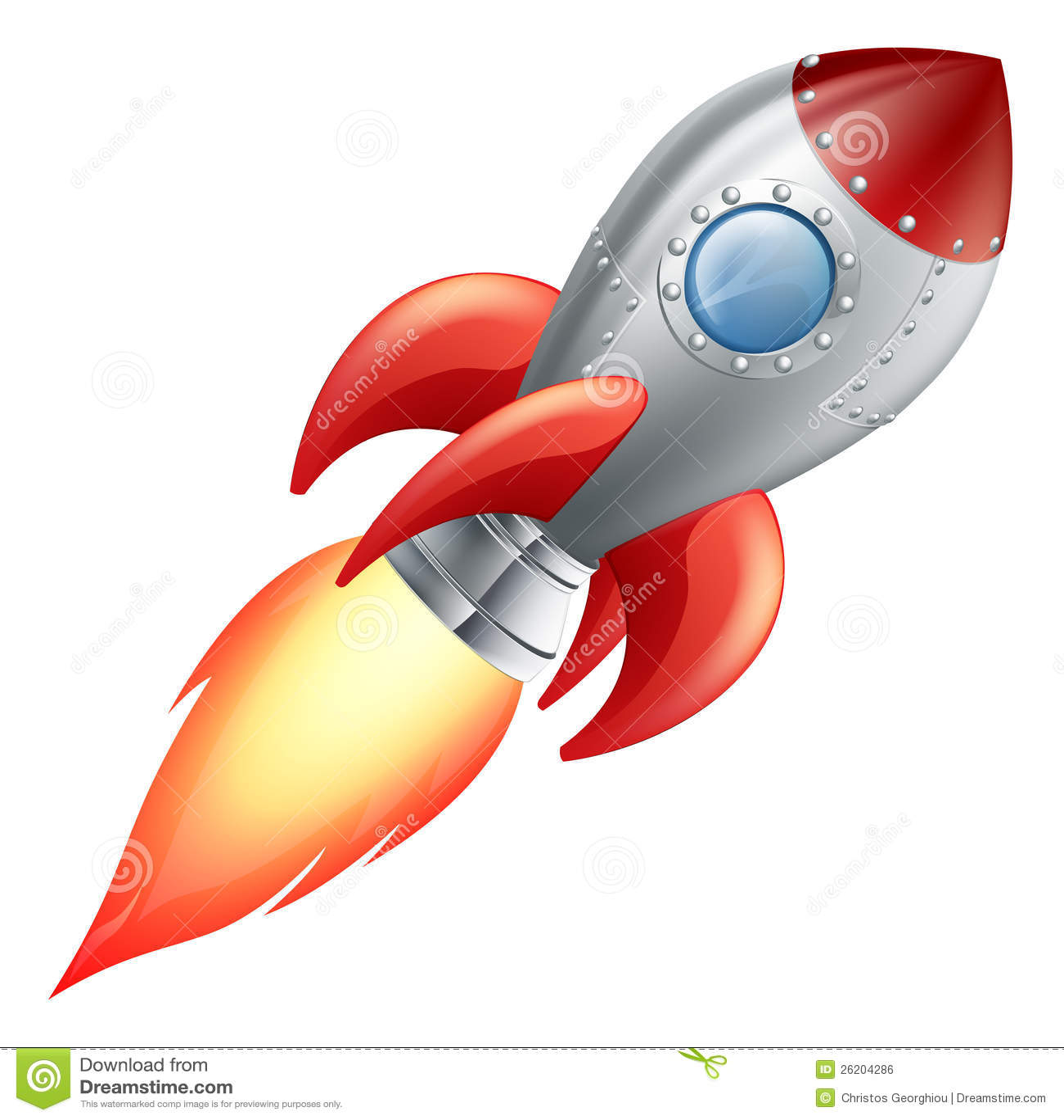 Astronave del razzo del fumetto illustrazione vettoriale - Immagini stampabili a razzo ...