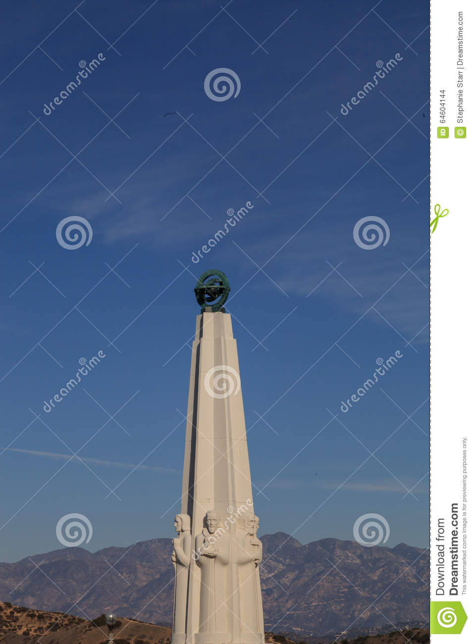 Astronomenmonument in Griffith Park in Griffith Observatory, Los Angeles