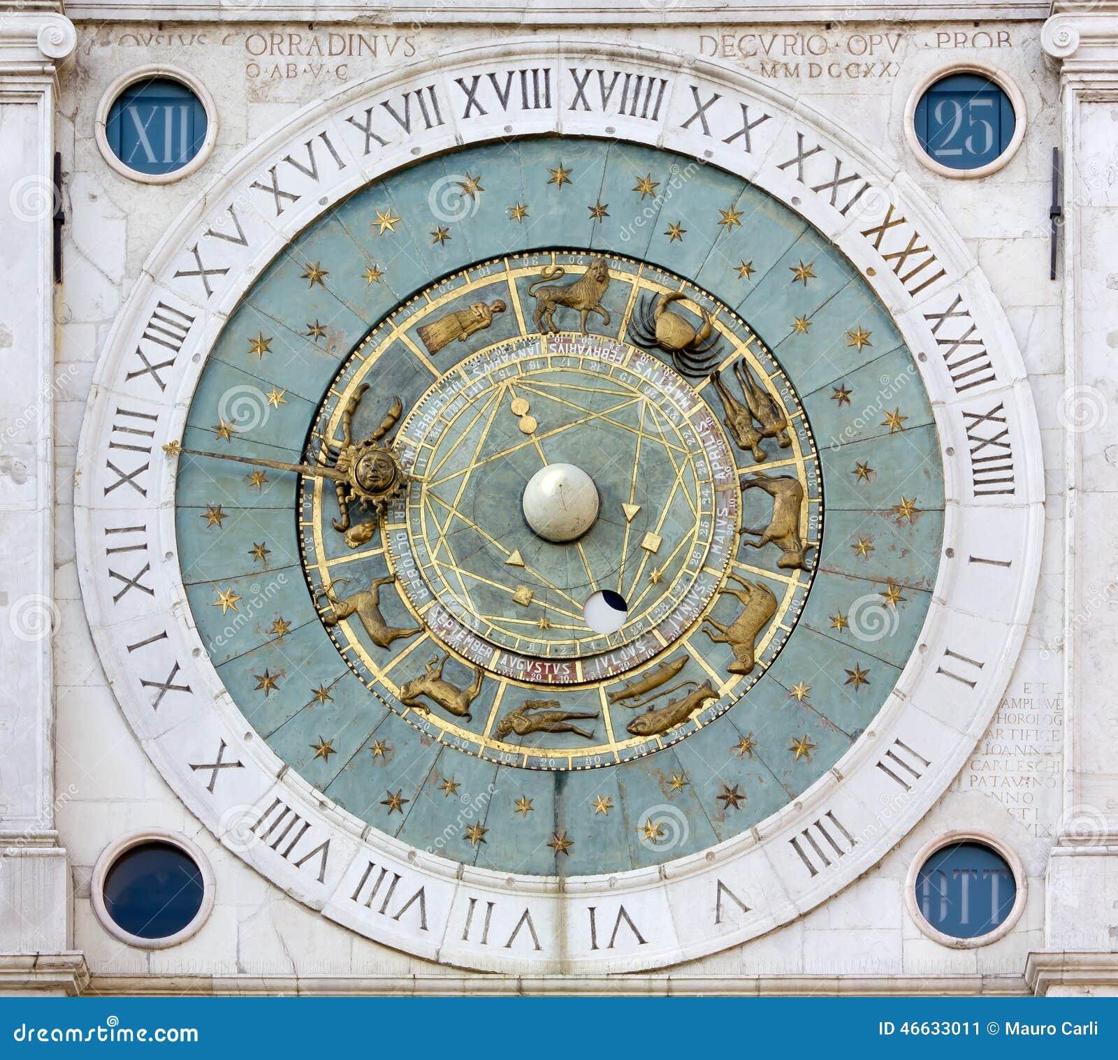 Astronomical Clock in the Piazza dei Signori in Padua