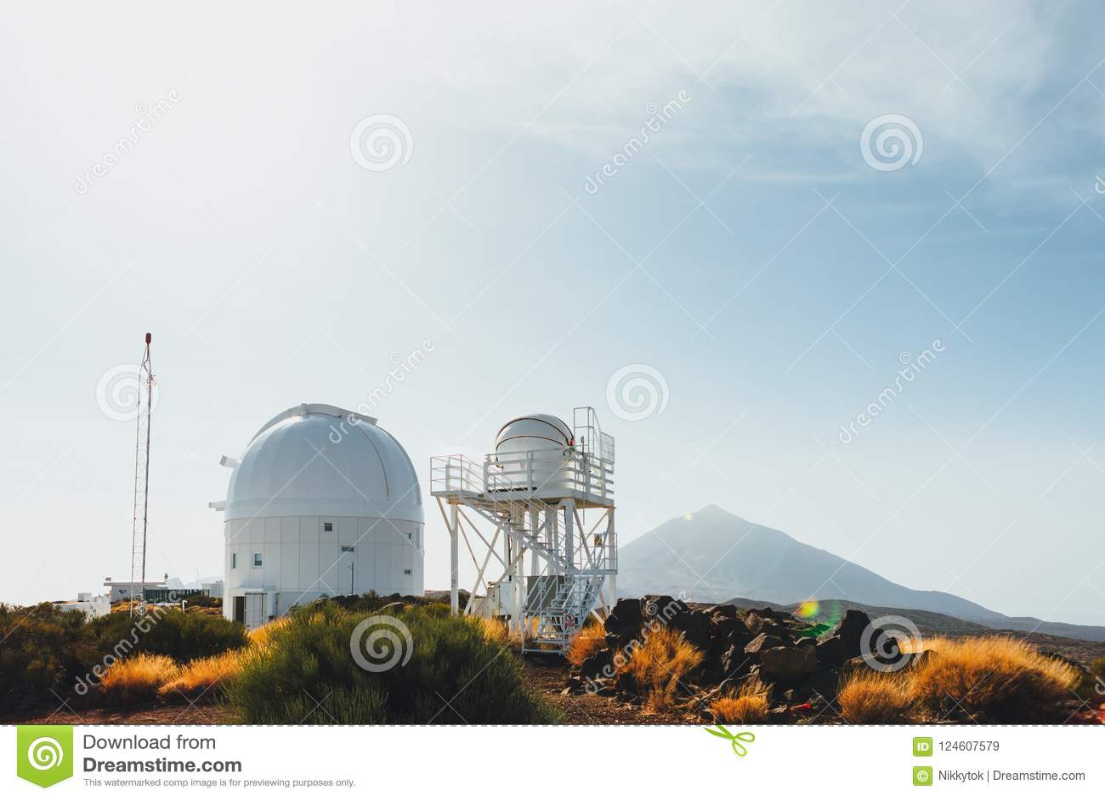 Astronomische teleskope teide observatoriums in teneriffa