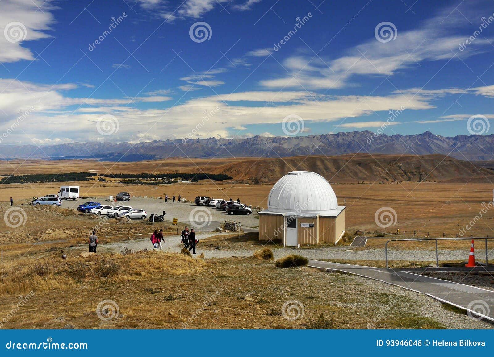 Astronomisches observatorium teleskop redaktionelles stockfoto