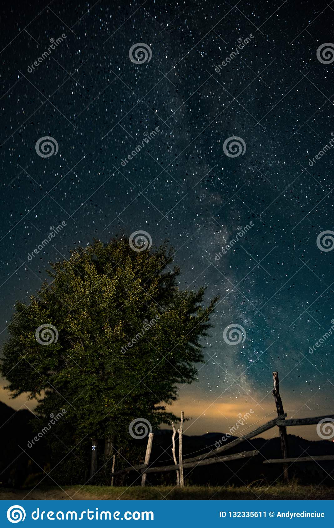 Astrophotography Sky Background Night Beautiful Stock Image