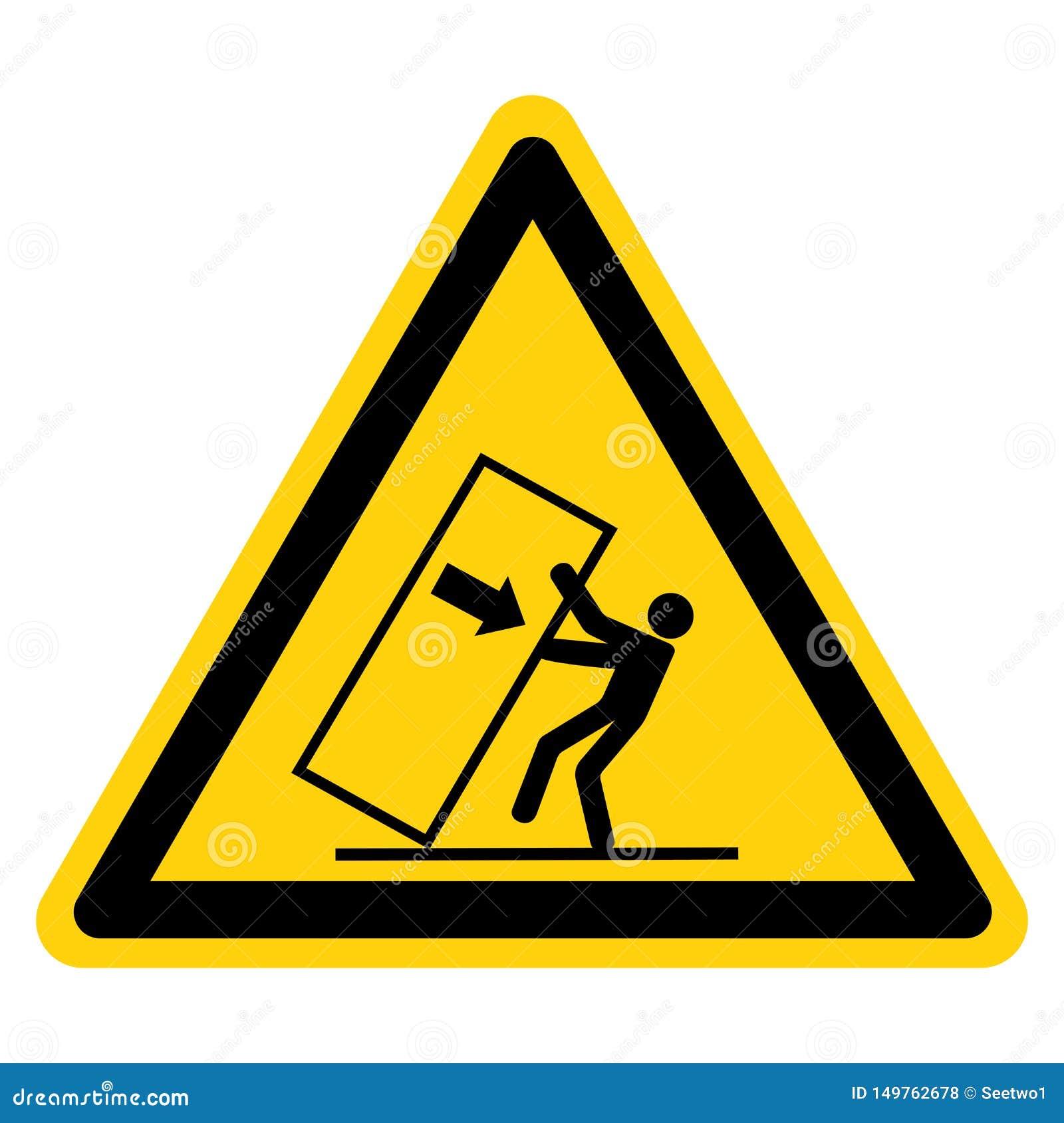 Astuce d écrasement de corps au-dessus d isolat de signe de symbole de risque sur le fond blanc, illustration de vecteur