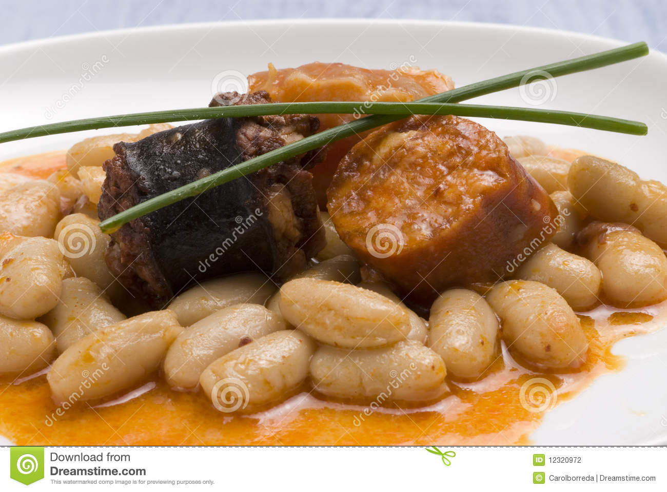 Asturian ham and beans spanish cuisine stock photography for Asturian cuisine