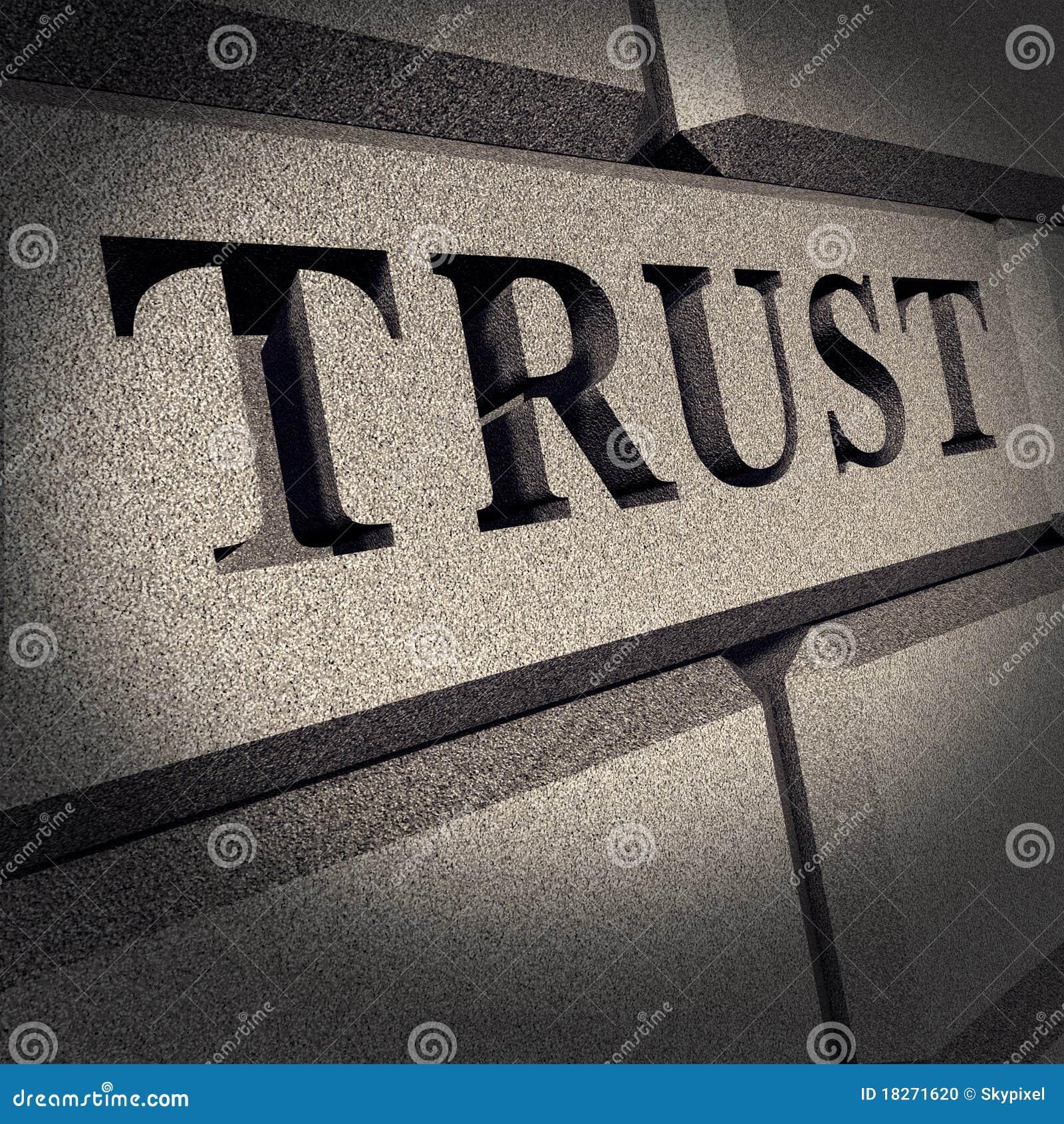 Asunto de la muestra de la roca sólida del honor de la confianza financiero