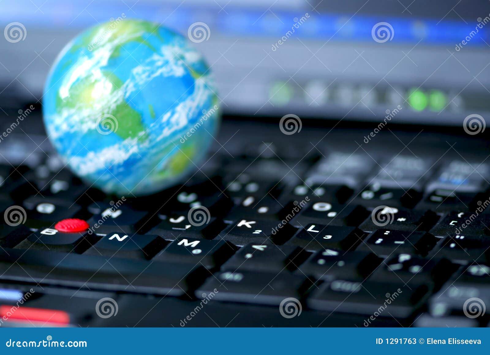 Asunto de ordenador del Internet global