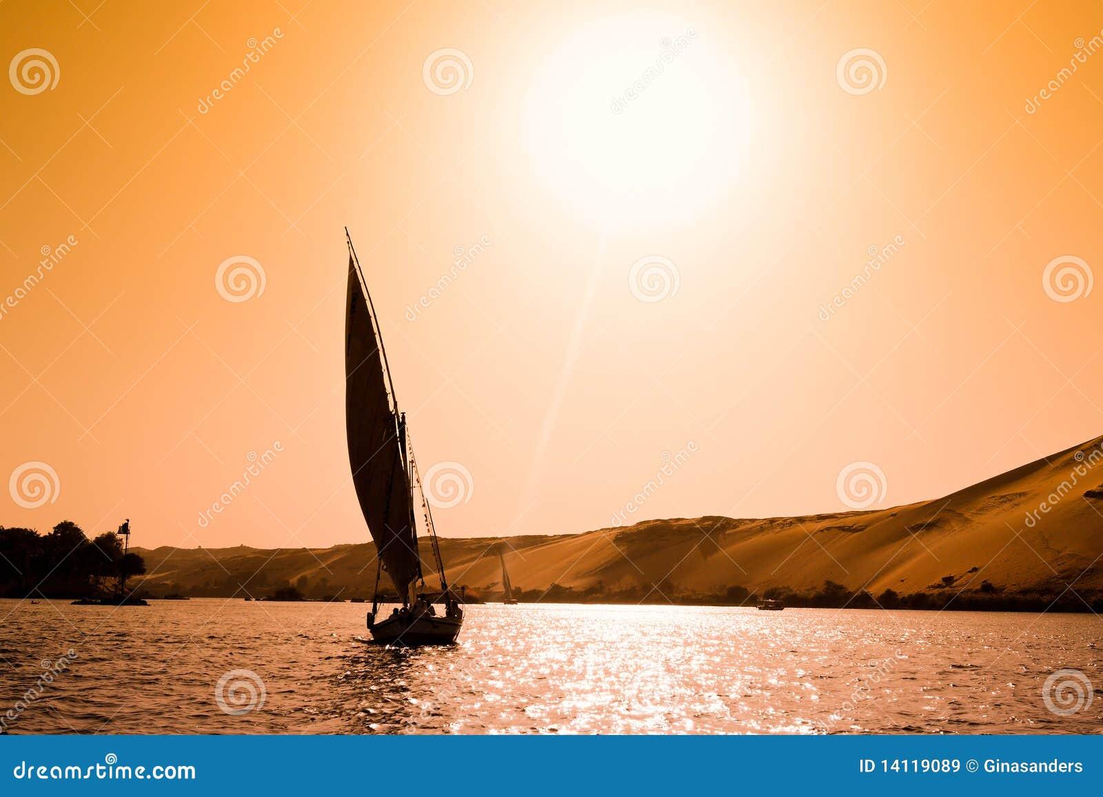Aswan egypt felucca