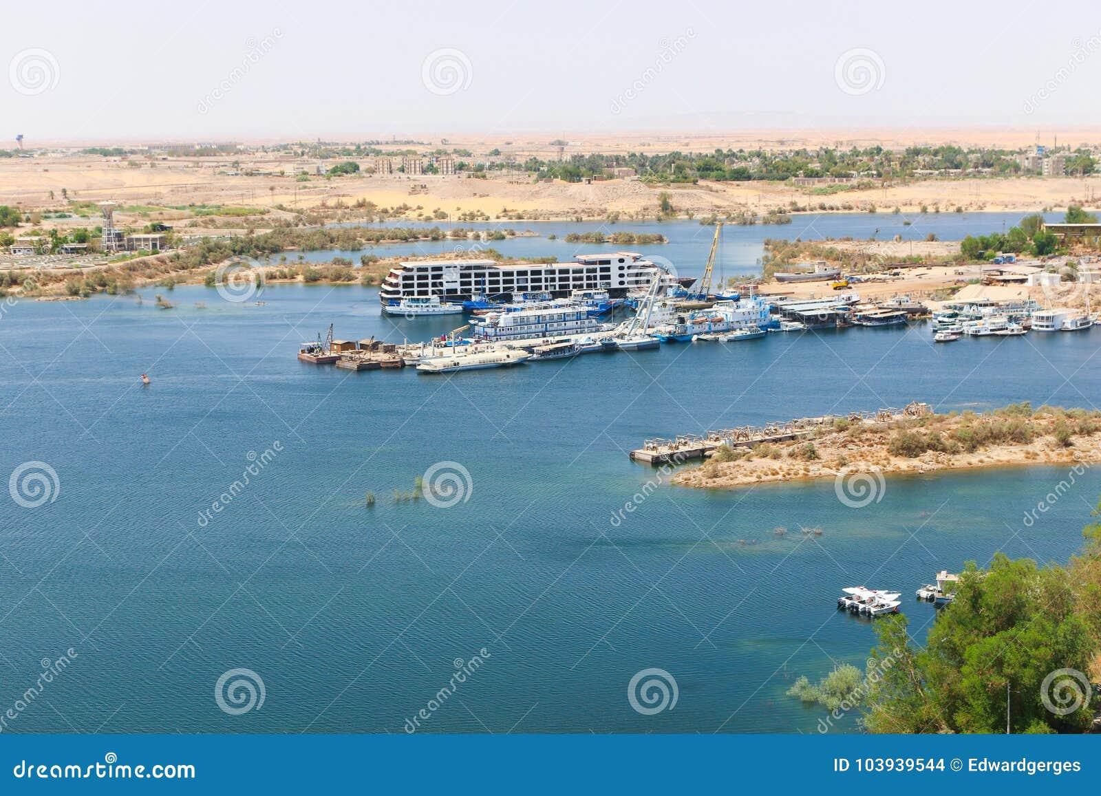 Aswan från överkanten - Egypten